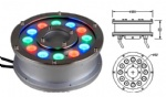 LED RGB underwater light